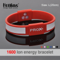 Free Shipping Power Energy Hologram Bracelets Wristbands Balance Ion Magnetic Therapy Fashion Silicone Bands Silicone Bangles