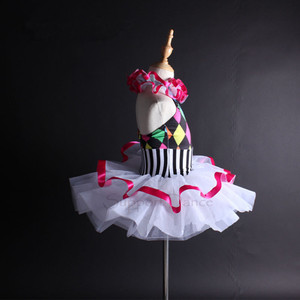 Image 3 - תמיכה ריקוד בנות נשים צבעוני הלטר בלט טוטו שמלת ילדים למבוגרים ריקוד תלבושות Vestidos C112