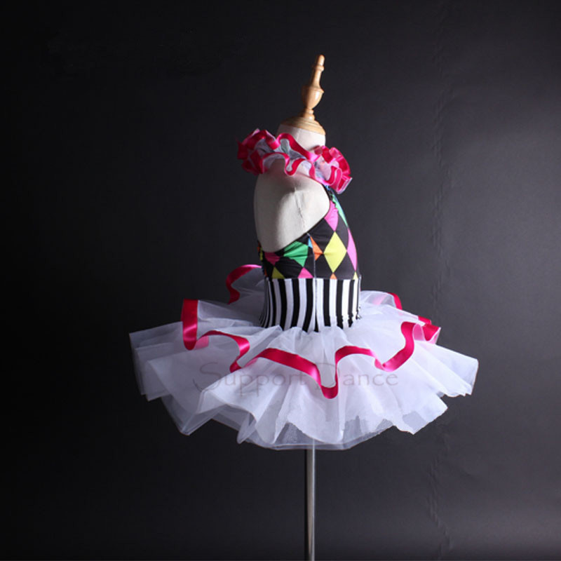 Image 3 - Support Dance Girls Women Colorful Halter Ballet Tutu Dress Kids Adult Dance Costume Vestidos C112-in Ballet from Novelty & Special Use