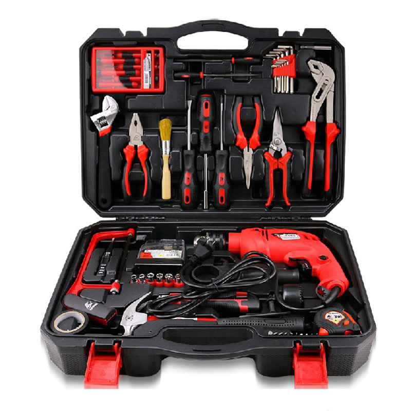71-in-1 Household Decoration Hand Tool Kit Bike Repairing Kit Electric Drill Screwdriver Pliers Wrench Saw Knife Socket Bit 55pcs hand tool set kit household tool kit saw screwdriver hammer tape measure wrench plier