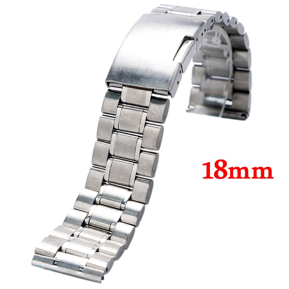 Stainless Steel Mesh Watch Band Strap 18mm Fold over clasp with one push button Men Women Replacement Free Shipping GD011218