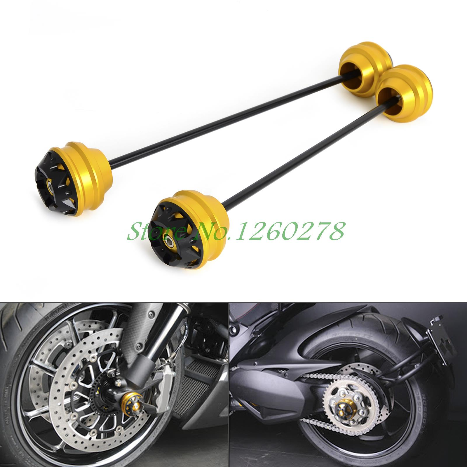 Front & Rear Axle Sliders/ Swingarm Sliders for DUCATI Panigale 1199 2013-2015 Diavel 2011-2016 Superbike 1299 Panigale S 2015