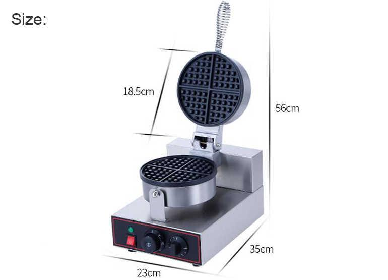 220 v/110 v UE EUA Plug Comercial máquina de Waffle Waffle Forno Elétrico Pequeno Almoço Da Panqueca Bolinho Lanche