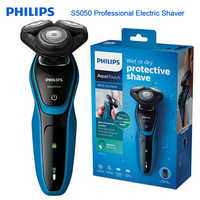 Philips Professionelle Elektrische Rasierer S5050 Voll Waschbar Rasieren Maschine mit AquaTec Wet & Dry Haut Schutz System Rasiermesser