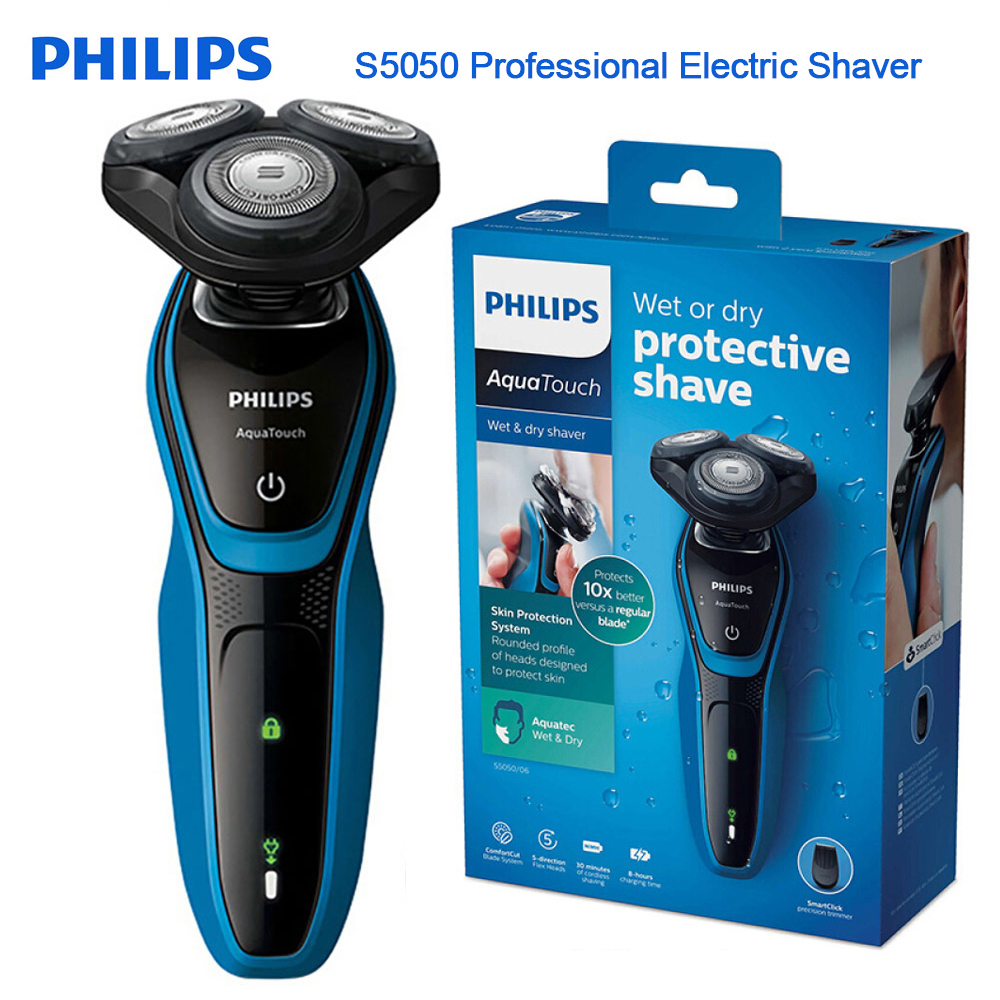 Philips Professional Electric Shaver S5050 Fully Washable Shaving Machine with AquaTec Wet & Dry Skin Protection System Razor image