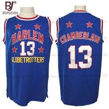 87bad0a22 ... 2017 New Cheap Wilt Chamberlain 13 Harlem Globetrotters Throwback  Basketball Jersey Blue Retro Stitched Basket Shirts ...