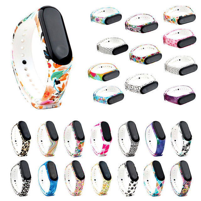 GYKZ Fashion Sport Watch Silicone Strap For xiaomi mi Band 3 Accessories Bracele