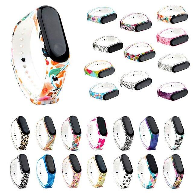 GYKZ модные спортивные часы силиконовый ремешок для xiaomi mi Band 3 аксессуары браслет для mi band 3 заменить браслет новый узор