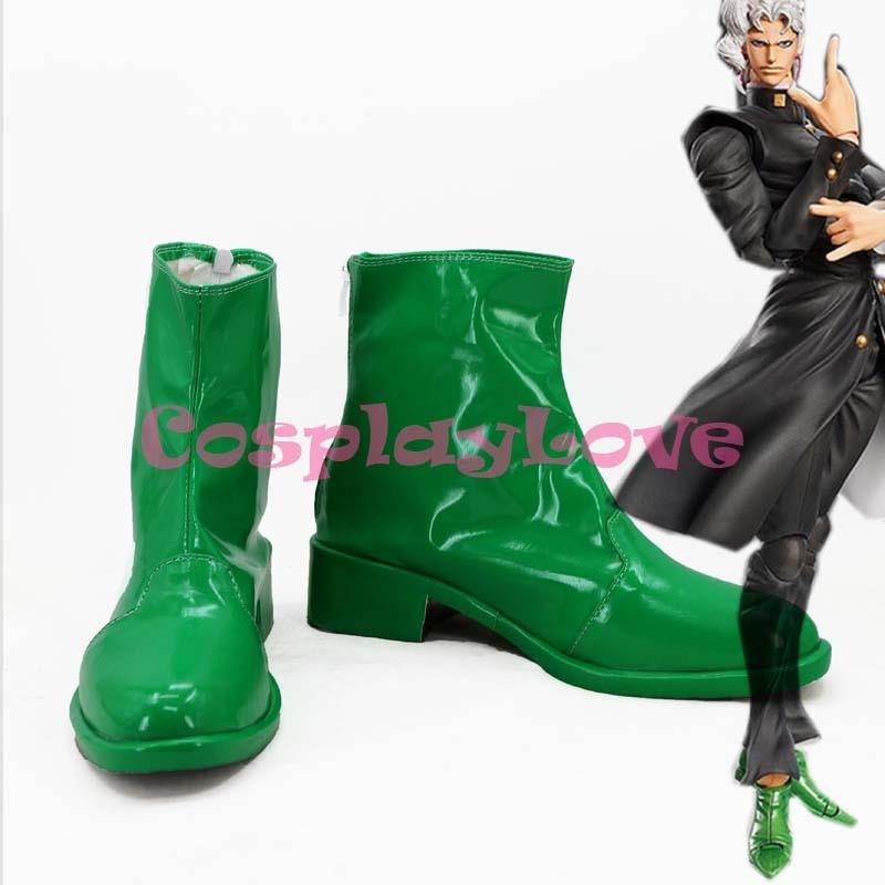 Newest Custom Made Japanese Jojo Bizzare Adventure Kakyoin Noriaki Cosplay Shoes Long Boots For Christmas Halloween Festival