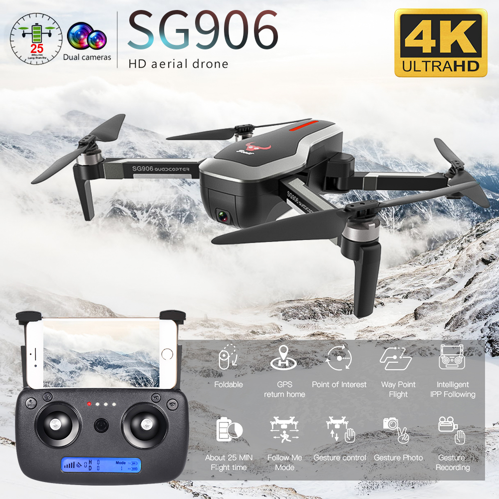ZLRC Beast SG906 GPS 5G WIFI FPV With  4K Ultra Clear Camera  Brushless Selfie Foldable Helicopter RC Dron Quadcopter RTF