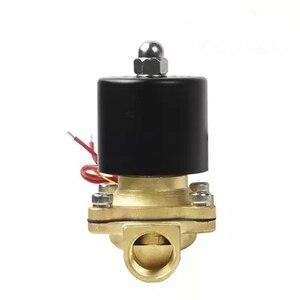 """Image 3 - Freies Verschiffen Heiße Neue 1/4 """", 1/8"""", 1/2 """", 3/4"""", 1 """", 2"""", AC220V, DC12V/24 V Elektrisches Magnetventil Pneumatische Ventil für Wasser Öl Luft Gas"""