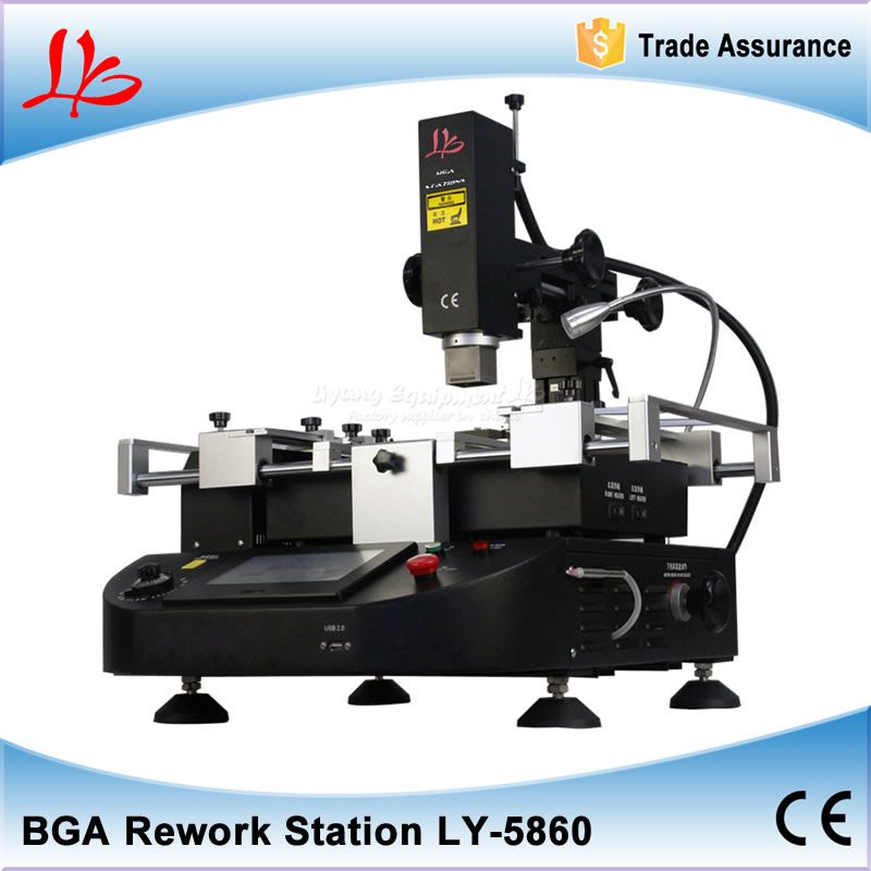 LY-5860 lcd touch screen BGA Rework Station hot air 3 zones for Laptop   Motherboard Chip Repair 4800W,Free tax to Russia