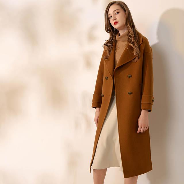 24b4f87a2 placeholder Casaco de cashmere casaco de lã das mulheres das mulheres do  vintage Turn-down Cinto