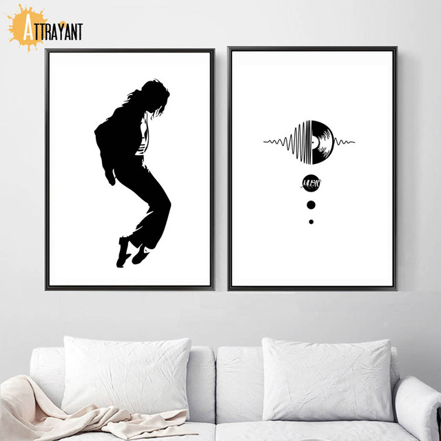 Us 3 63 48 Off Black White Michael Jackson Wall Art Canvas Painting Nordic Posters And Prints Wall Pictures For Living Room Bedroom Home Decor In
