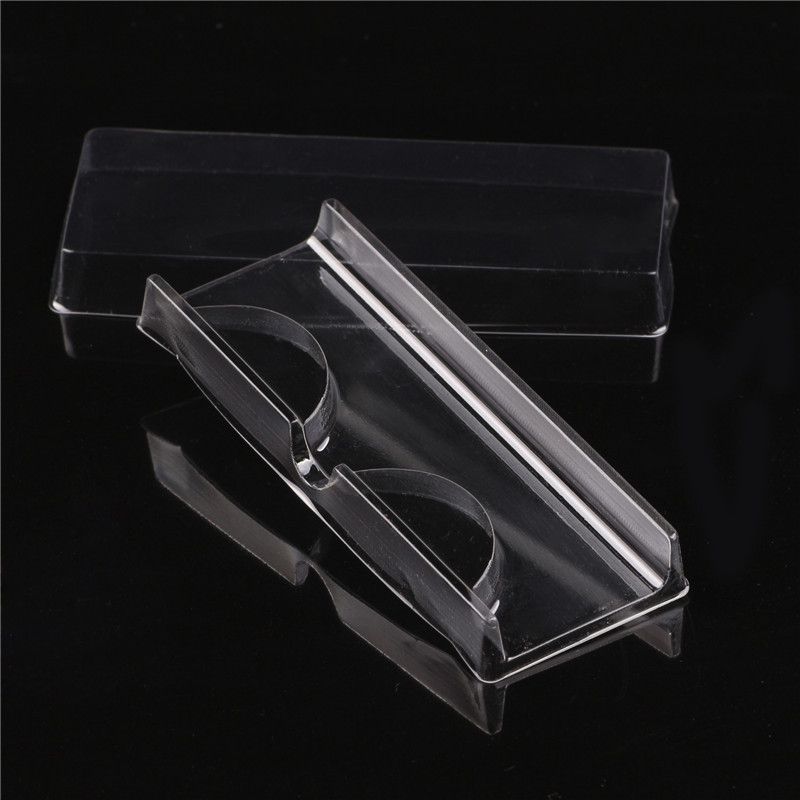 10Pcs/lot High Quality Acrylic Eyelash Pull Type Storage Case Packing Box For Magnetic Eyelash Box Transparent Lid Clear Tray