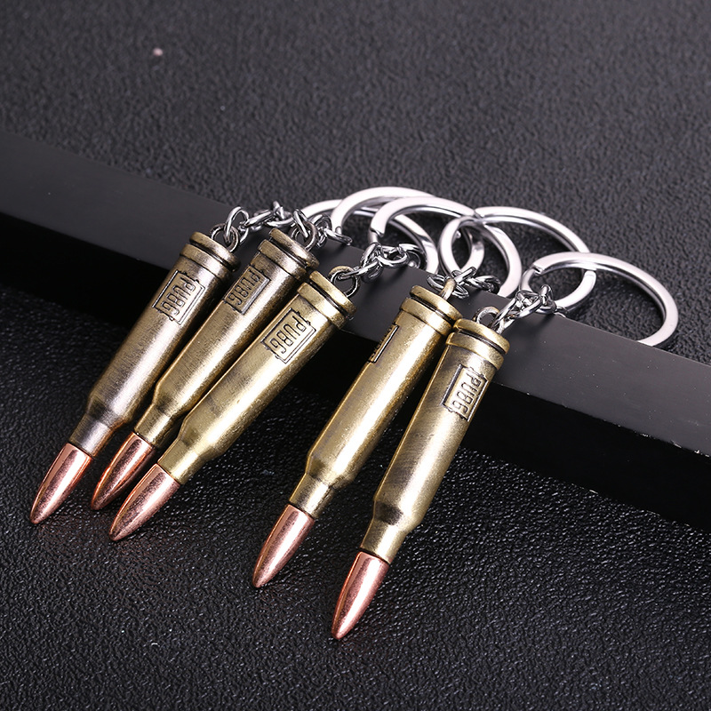 2019 New Hot Game PUBG Gun Bullets Keychain letter 300 Win Mognum High Quality Metal Key Ring Key Chain For Player's Gifts