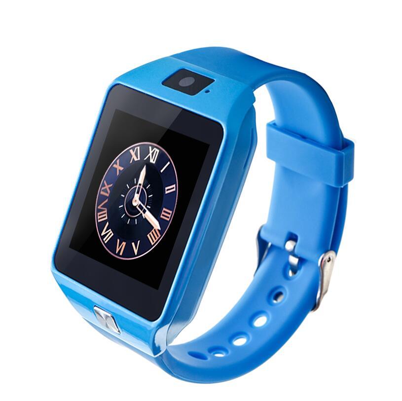 Самые дешевые DZ09 Bluetooth Смарт-часы для мужчин Интеллектуальные цифровые спортивные Смарт-часы Поддержка SIM TF карты напоминание о сообщениях дропшиппинг - Цвет: blue Kids Version