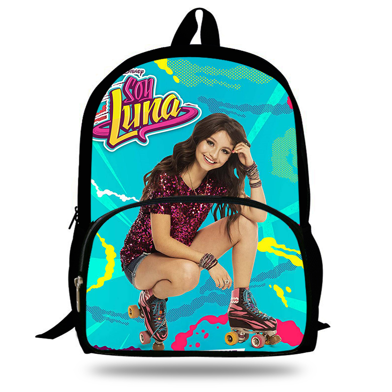 2018 Newest Mochila Daily Backpack Soy Luna Girls TV Show Printing Children School Bags Boys Teenage Girls Casual Backpacks