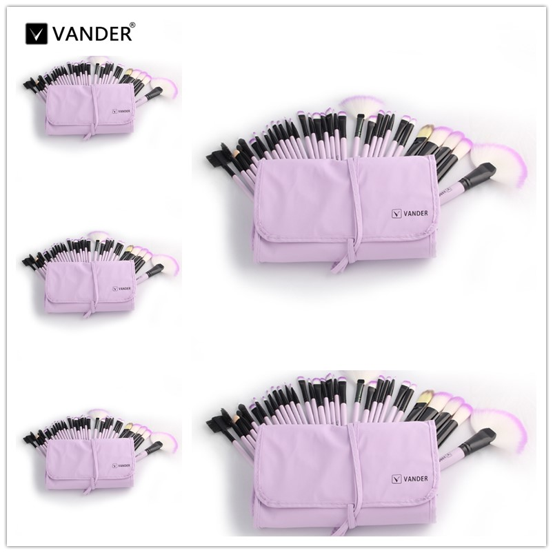 VANDER 5*32pcs Makeup Brush Set Professional Cosmetic Kits Brushes Foundation Powder Blush Eyeliner pincel maquiagem 8pcs rose gold makeup brushes eye shadow powder blush foundation brush 2pc sponge puff make up brushes pincel maquiagem cosmetic