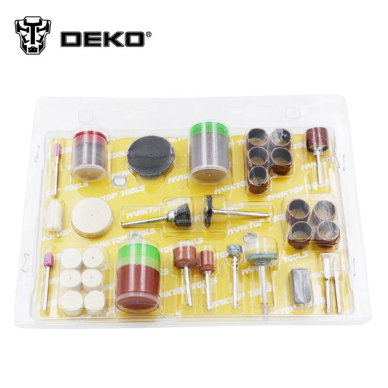 DEKO DIY electric mini grinder accessories 105pcs gringding set for grinding polishing cutting drilling hot sale high quality mini electric grinding group professional grinder set pt5202 for polishing drilling cutting engraving kit