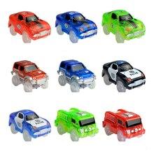 Große Größe Magische Glow Racing Track Set Track Auto Flexible Glowing Tracks Spielzeug 160/240/360 Rennstrecke Auto für Kinder Geschenke
