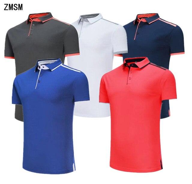 5f3295ab2 Zmsm 2018 cuello vuelto manga corta hombres ejercicio Polo Correr fitness  ocio Camisetas publicidad deportiva camisetas