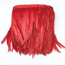 Wholesale Red Rooster Tail Coque Feathers Trim 12-14inch/30-35cm Pheasant for Crafts Decoration Skirt Carnival Plumas