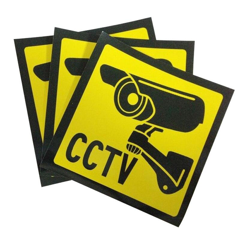 JX-LCLYL 3 шт. Главная видеонаблюдения безопасности Камера знаки Стикеры Предупреждение наклейка