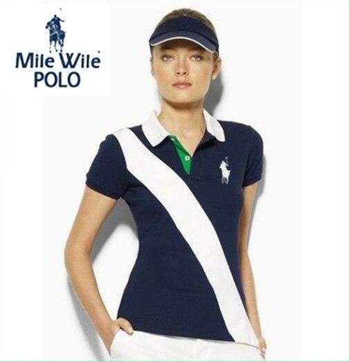 New sale 2016 women POLO shirt brand t shirt slim embroibery short sleeve  shirt for womens plus size S-XL free shipping fd0cf6e968