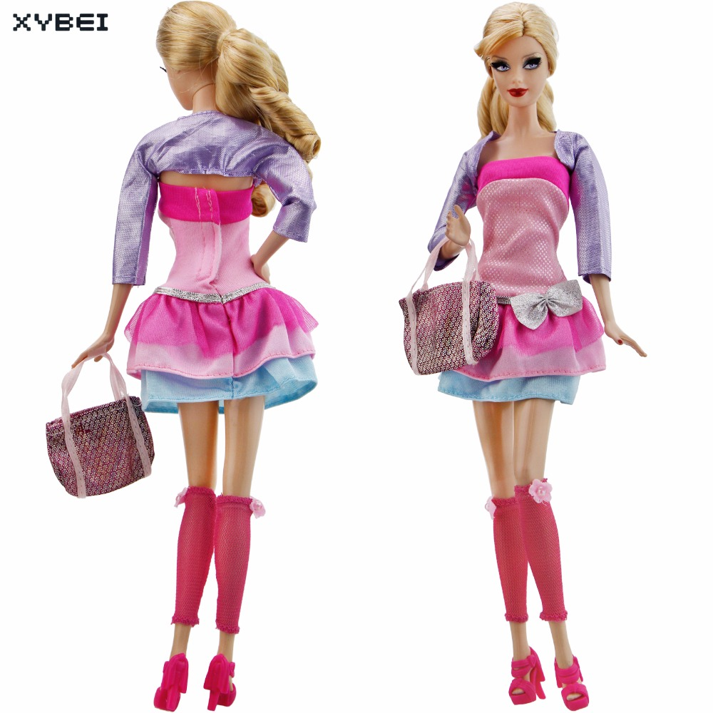 Aliexpress.com : Buy Fashion Modern Outfit Daily Casual Wear Evening Party  Dress Handbag Stockings Shoes Clothes For Barbie Doll Accessories Gifts  from ...