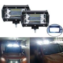 5 »светодио дный светодиодный свет бар К 6000 Вт к 72 Вт дальнего света для автомобиля 4×4 Offroad Jeep внедорожник УАЗ рабочие Противотуманные фары мотоцикл фар 12 В в В 24