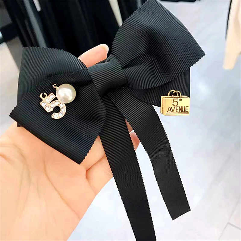 ... Korea Handmade Solid Fabric Imitation Pearl Shirt Pin Neck Bow Tie  Bowknot Apparel Accessories Fashion Jewelry ... b22337f0a765