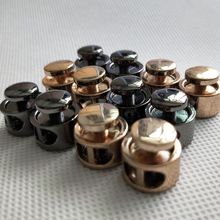 100pcs Gold/Black Tone Metal Stopper Spring Toggle Buckle Cord Locks Claps Drawstring Stops End Button Single/Double holes Clasp