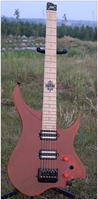 nk-luminous-material-steinberger-model-headless-electric-guitar-red-color-acrylic-flame-maple-neck-stock-guitar-free-shippi