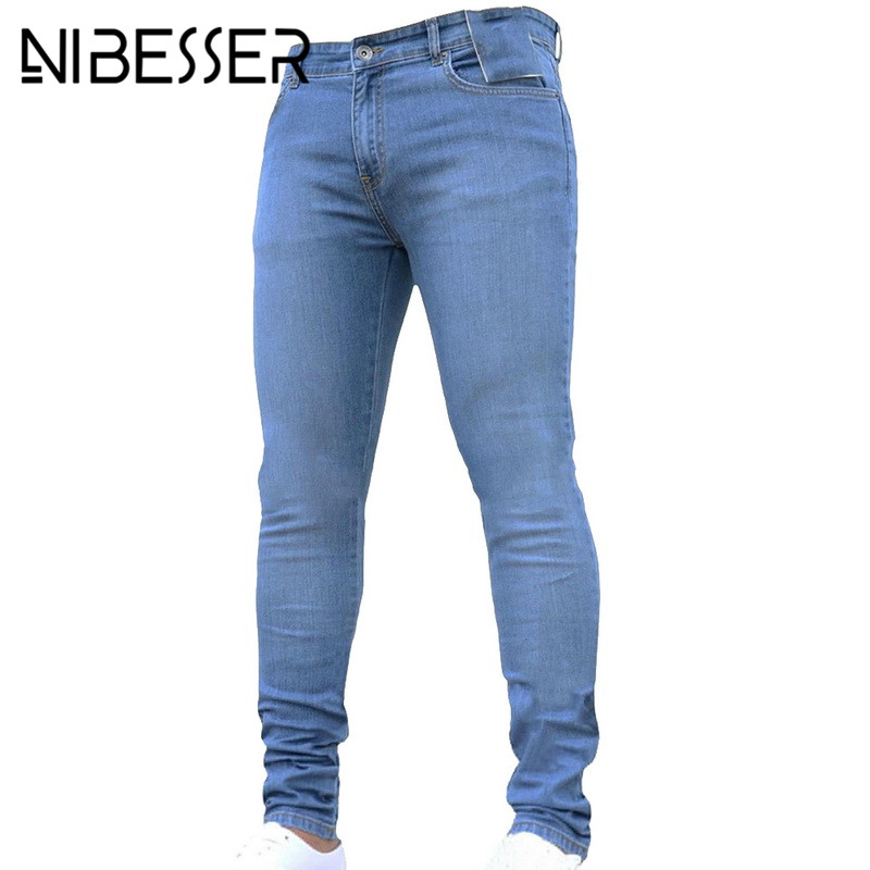 NIBESSER mens brand Skinny   jeans   Casual hip hop Trousers 2018 denim black   jeans   homme stretch pencil Pants Plus Size streetwear