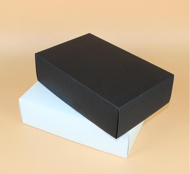 28*18*8cm 10PCS White/black Cardboard Boxes, Large Black Luxury Craft