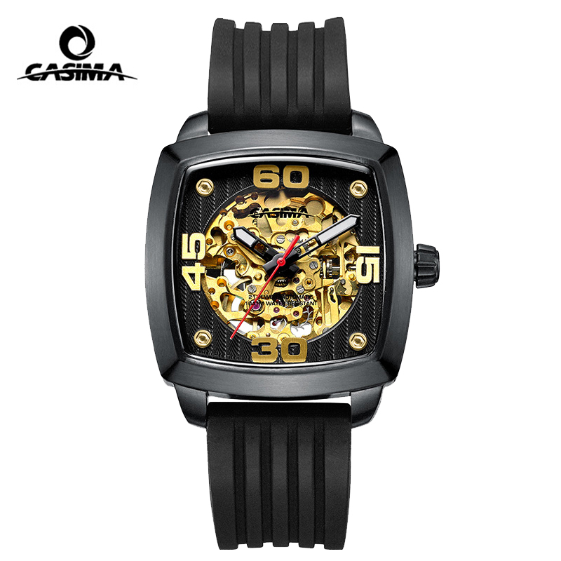 CASIMA Mechanical Watches Mens Top Brand Luxury Waterproof Sapphire Crystal Skeleton Automatic Wristwatch Saat Relogio Masculino sapphire automatic mechanical watch classic mens watches top brand luxury fashion male wristwatch high quality relogio masculino