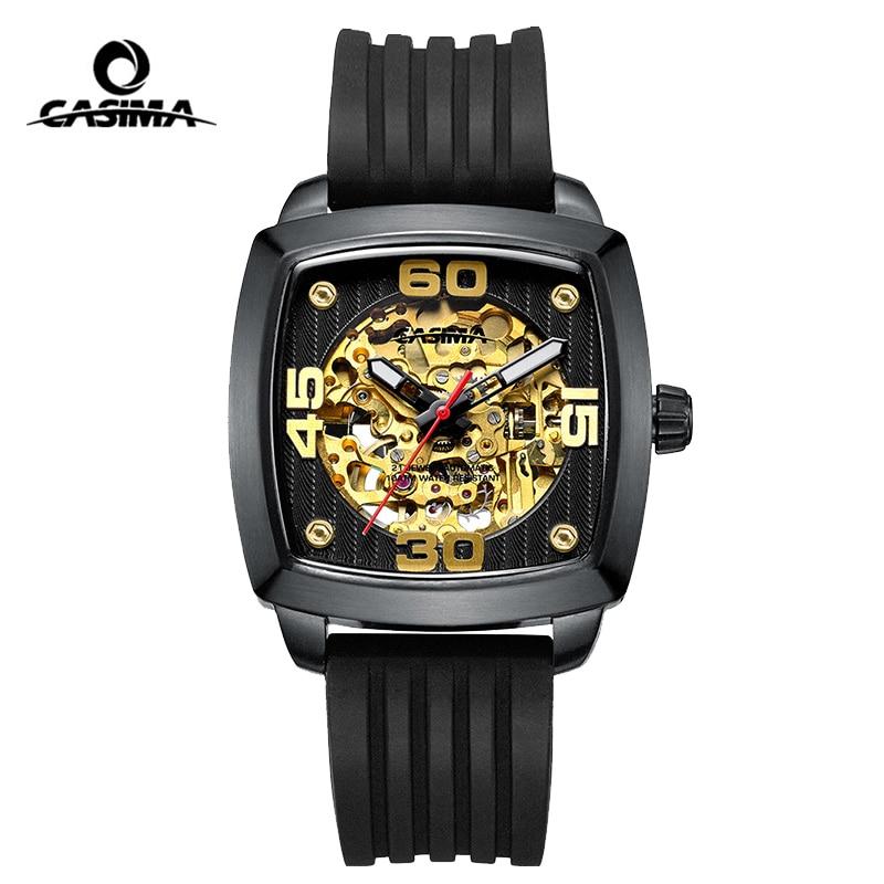 Casima Automatic Watch Mens Watches Top Brand Luxury Man Waterproof Sapphire Crystal Skeleton Mechanical Wrist Watch Clock 2017