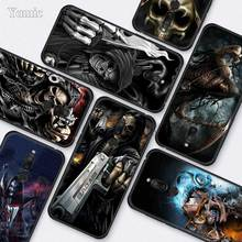 Grim Reaper Skull Skeleton Silicone Case for Meizu M6T 16Xs 16S 16x 16th 16 Black TPU Soft Cases Accessories Phone Shell Covers