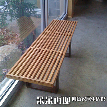 Nano Virginia Nelson plataforma bench bancos de madera taburete ...