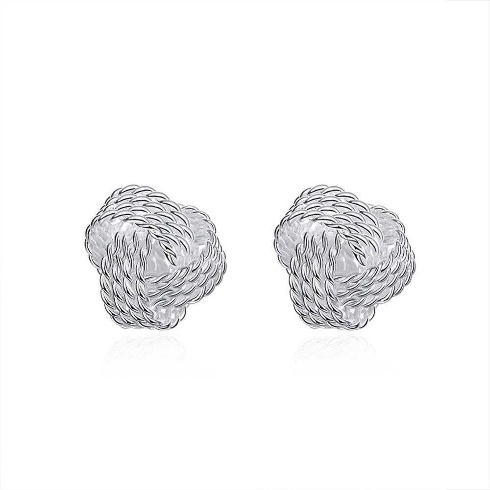 "Silver Plated Women/'s Round Hoop Studs Dangle""Earrings Ear Stud Jewelry Gorgeous"
