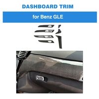 7pcs Interior Moldings Central Control Panel Trim Door Panel Cover for Mercedes Benz GLE 43 450 63 AMG Carbon Fiber