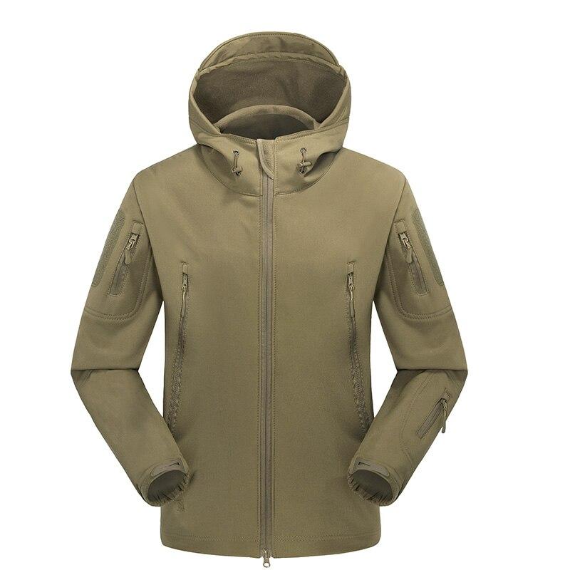 2018 Brand New Mens Engins De TAD Soft Shell En Plein Air Polaire Vestes Imperméables Tactique Camouflage Armée Militaire Chasse Coupe-Vent