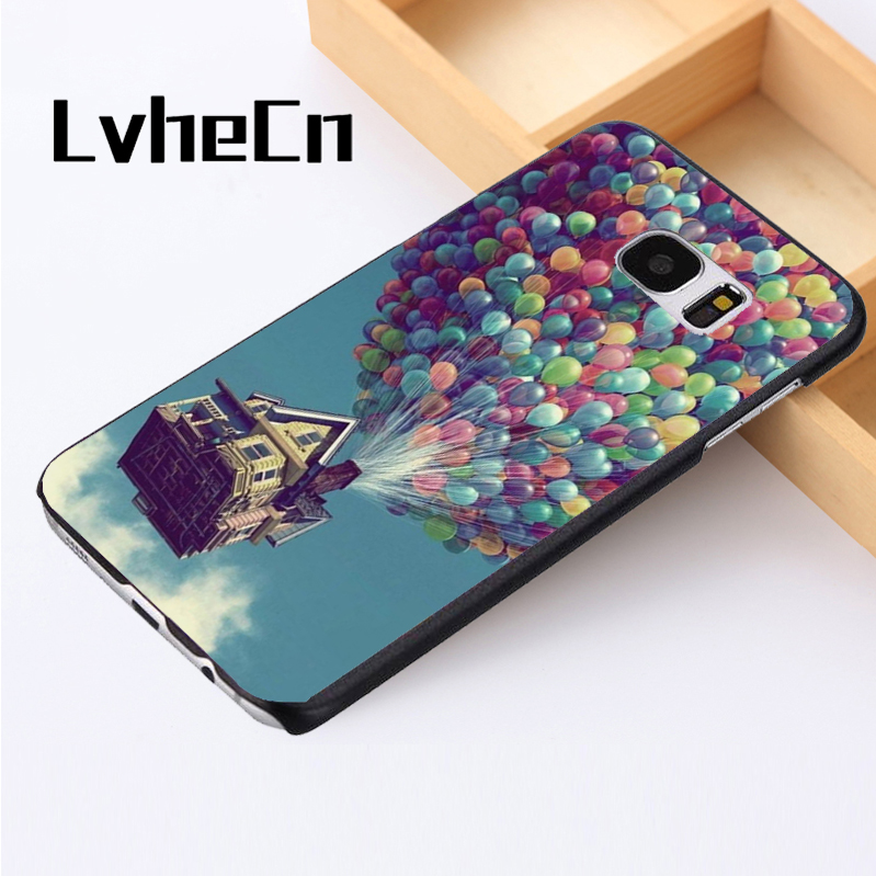 LvheCn phone case cover For Samsung Galaxy S3 S4 S5 mini S6 S7 S8 edge plus Note2 3 4 5 7 8 Up Balloons Sky Beautiful