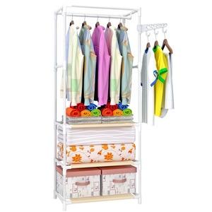 Image 3 - COSTWAY Clothes Hanger Coat Rack Floor Hanger Storage Wardrobe Clothing Drying Racks porte manteau kledingrek perchero de pie