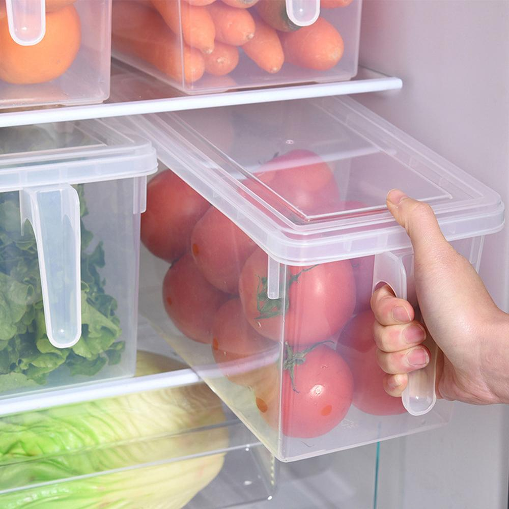 1Pcs NEW Portable Refrigerator Fridge Sealed Food Fruits Storage Box Organizer Container Storage Boxes Kitchen Supply