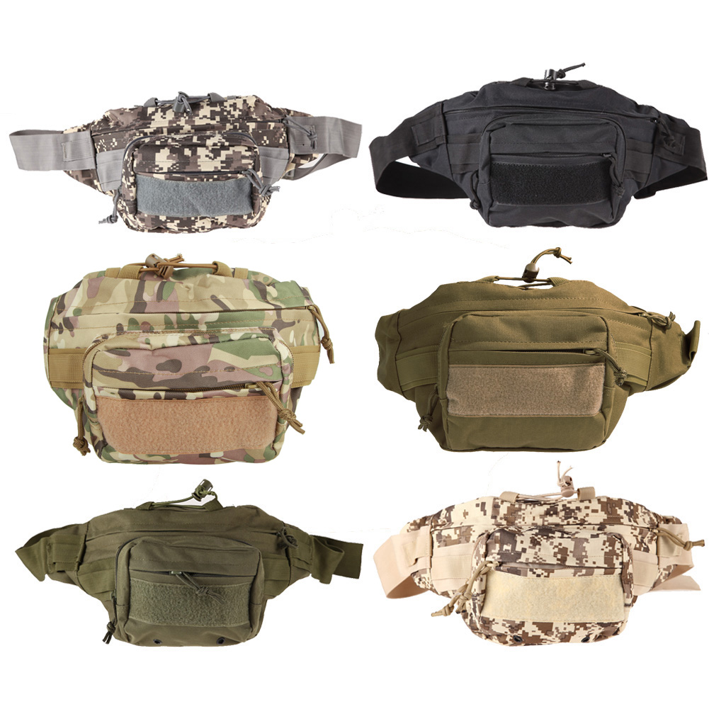 1pcs Outdoor sport bags Military Tactical Waist Pack Shoulder Bag Molle Camping Hiking Pouch Tactical bag Six Color outdoor camping hiking waist bag military tactical trekking waist pack bag camo pouch