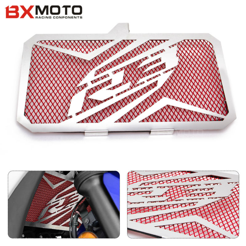 Yzf-R3 Motorcycle Engine Radiator Bezel Grill Grille Guard Cover Protector Stainless Steel For Yamaha Yzf R3 YzfR3 2015-2017 Hot for kawasaki z900 2017 motorcycle radiator guard gloss stainless steel grille bezel radiator net protective cover