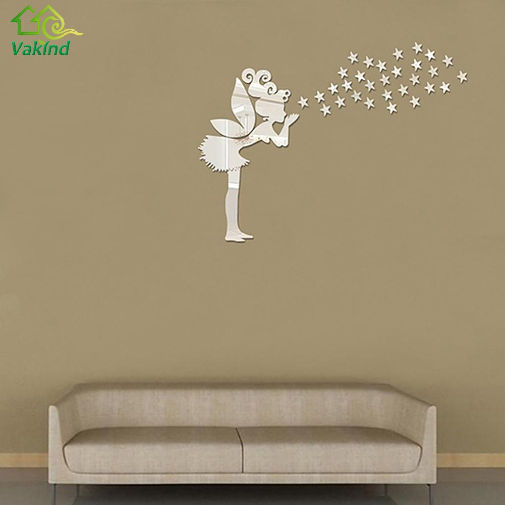 angel fairy star wall sticker free shipping worldwide. Black Bedroom Furniture Sets. Home Design Ideas