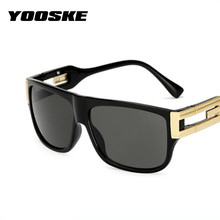 YOOSKE Retro Square Sunglasses Men Vintage Brand Designer Sun Glasses Male Celebrity Hip-Hop Glasses Female Big Frame Eyeglasses